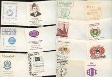 PAKISTAN 1960-70s 20 ILLUSTRATED ENVELOPES for FDCs PRINTED PAKISTAN PO Lot 1