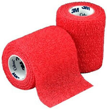"""Coban Wrap Self Adherent Medical Tape: 3"""" x 5yds (Red) - Each """"One Roll"""""""