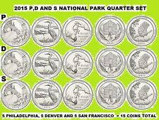 2015 P, D & S America the Beautiful Quarter 15 Coin Set
