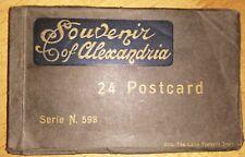 Egypt Antique Souvenir Of Alexandria c1920 24 Postcards Series 598 - Superb