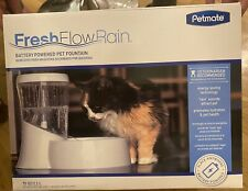 New listing Petmate Fresh Flow Rain Battery Powered Pet Fountain for Cats and Dogs, 75 oz
