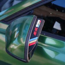 2x Mugen Black Car Rear View Side Mirror Rain Board Eyebrow Guard Sun Visor (Fits: Honda)