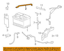 BMW OEM 97-03 540i 4.4L-V8 Battery-Hold Down Tie Bracket Clamp 61218368212