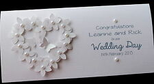 Personalised Handmade Flowerheart Wedding Day Money/Voucher/Gift Card Wallet
