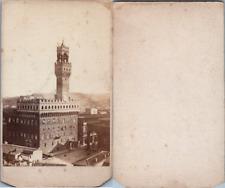 Italie, Italia, Florence, Firenze, Palazzo Vecchio, circa 1870 Vintage CDV album