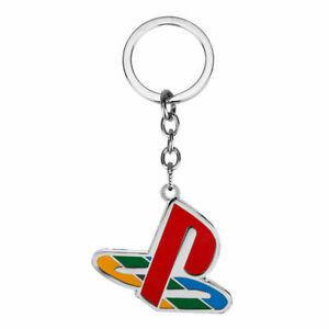 Playstation Logo Metal Keychain Retro Brand New Key Chain Ring Keyring PS1 PS2