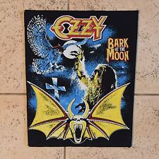vintage OZZY BARK AT THE MOON back patch BLACK SABBATH JUDAS PRIEST MOTORHEAD