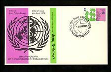 Postal History Australia Fdc #548 Un United Nations Medical Organization 1973