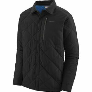 Patagonia Tough Puff Snap Synthetic Shirt Jacket L Large Black Blue MSRP $199