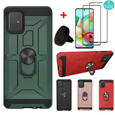 For Samsung Galaxy A51 Shockproof Armor Kickstand Case Cover+Screen Protector