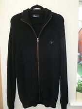 Mens black Fred Perry cardigan size xxl