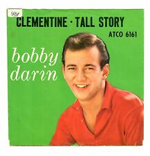 Bobby Darin 1960 Atco 45rpm (Pix Sleeve ONLY) Clementine b/w Tall Story cLEAn!