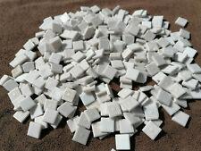 LOT 1kg MOSAIQUE TESSELLES EMAUX DE BRIARE pate de verre blanc LOIRET 45