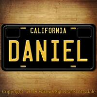 Daniel California Name License Plate Aluminum Vanity Tag