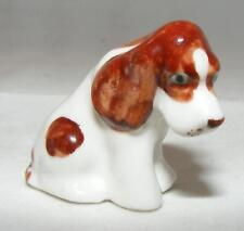 Klima MIniature Porcelain Animal Figure Spaniel Sitting Head Down E755