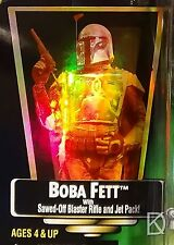 Boba Fett Unopened Star Wars POTF2 1997 Hologram Green Collection 1