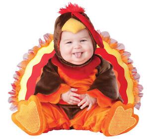 InCharacter Lil Gobbler Thanksgiving Turkey Halloween Infant 12 18 Mons. Costume
