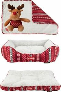 Luxury Super Soft Dog Santa Paws Christmas Collection Gift