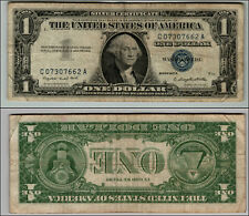 1957A $1 SILVER CERTIFICATE  BLUE SEAL NICE PIECE OF HISTORY  LOT J-99