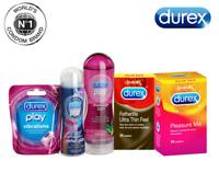 Durex Pack Pleasure Fetherlite 2in1 Massage Gel Lubricant Condoms Vibe Cock Ring
