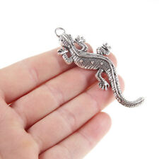 5PCS Lizard Charm Pendant Vntage Silver Beads Fit DIY Jewelry Finding Craft