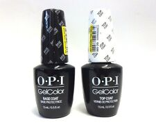 OPI Nail GELCOLOR Gel Color BASE COAT .5oz + TOP COAT .5oz/15mL  ~ 2 bottles~
