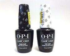 OPI Nail GELCOLOR Gel Color BASE COAT .5oz + TOP COAT .5oz/15mL  ~ 2 bottles~