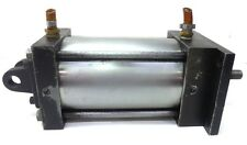 """UNKNOWN BRAND DOUBLE ACTING AIR CYLINDER 4 1/4"""" BORE, 6"""" STROKE, 1/2"""" PORT SIZE"""
