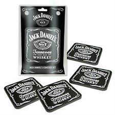 JACK DANIELS OLD No7 BRAND SET OF 4 RUBBER COASTERS
