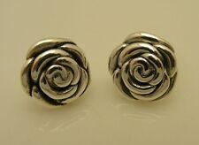 Unique Sterling Silver 925 Flower Earrings