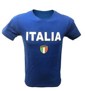 Tshirt Italia Scudetto Tricolore Bandiera Italiana Maglia Europeo Mondiale