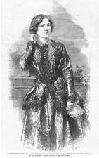 Jenny Lind The Swedish Opera Singer - Antique Print 1850