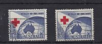 APD96) Australia 1954 3½d Red Cross, commercially used with misplaced cross.