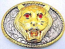 Tiger Belt Buckle Gold Metal Fashion Logo Western Cowboy Unisex Rodeo Wholesale