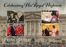 More details for st vincent & grenadines 2021 mnh royalty stamps prince philip 100th bday 4v m/s
