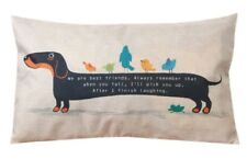 Dachshund Sausage Dog Animal Cushion Cover Rectangle Kawaii 50 x 30cm