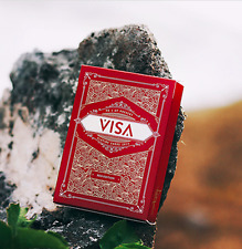 Visa Red Playing Cards Deck by Patrick Kun and Alex Pandrea plus Murphy's Magic