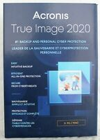 Acronis True Image 2020 5-Users/PC Backup & Recovery Software Free Upgrade 2021