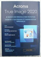 Acronis True Image 2020 5-Users/PC Backup & Recovery Software [Key-card] Windows
