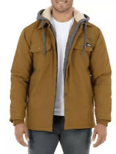 Mens 2XL Dickies Canvas Shirt Jacket Nwt Duck Hoodie Brown Relaxed Fit 50-52