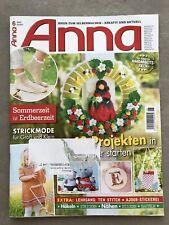ANNA Zeitschrift Handarbeit Stricken Nähen Sticken Häkeln Juni 6 2020 neuw