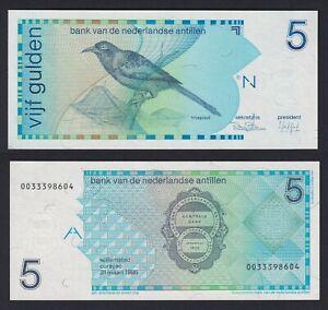Antille Olandesi 5 gulden 1986 FDS/UNC  B-09
