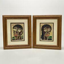 Larry Winston Collins Framed Signed Original Artwork Adam & Eve 1991 Mixed Media
