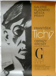 Poster Plakat - Frantisek Tichy - Galerie Hlavniho Mesta Prahy - 1986