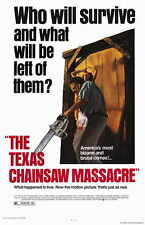 THE TEXAS CHAINSAW MASSACRE Movie Promo POSTER Marilyn Burns Allen Danzinger