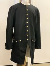 """Man's BLACK Wool Frock Coat  50""""+ chest - Rev War 18th Century Colonial, NEW"""