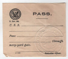 USS R-5 Navy Pass SUBMARINE US Naval FORE RIVER Quincy Mass MA MILITARY Sub