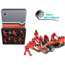 American Diorama 1:18 F1 Pit Crew Figures Team Red (7 Figures)