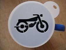 Corte láser café Bici del motor y plantilla de artesanía
