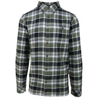 O'neill Men's Moss Green Redmond Plaid L/S Flannel Shirt (Retail $60)